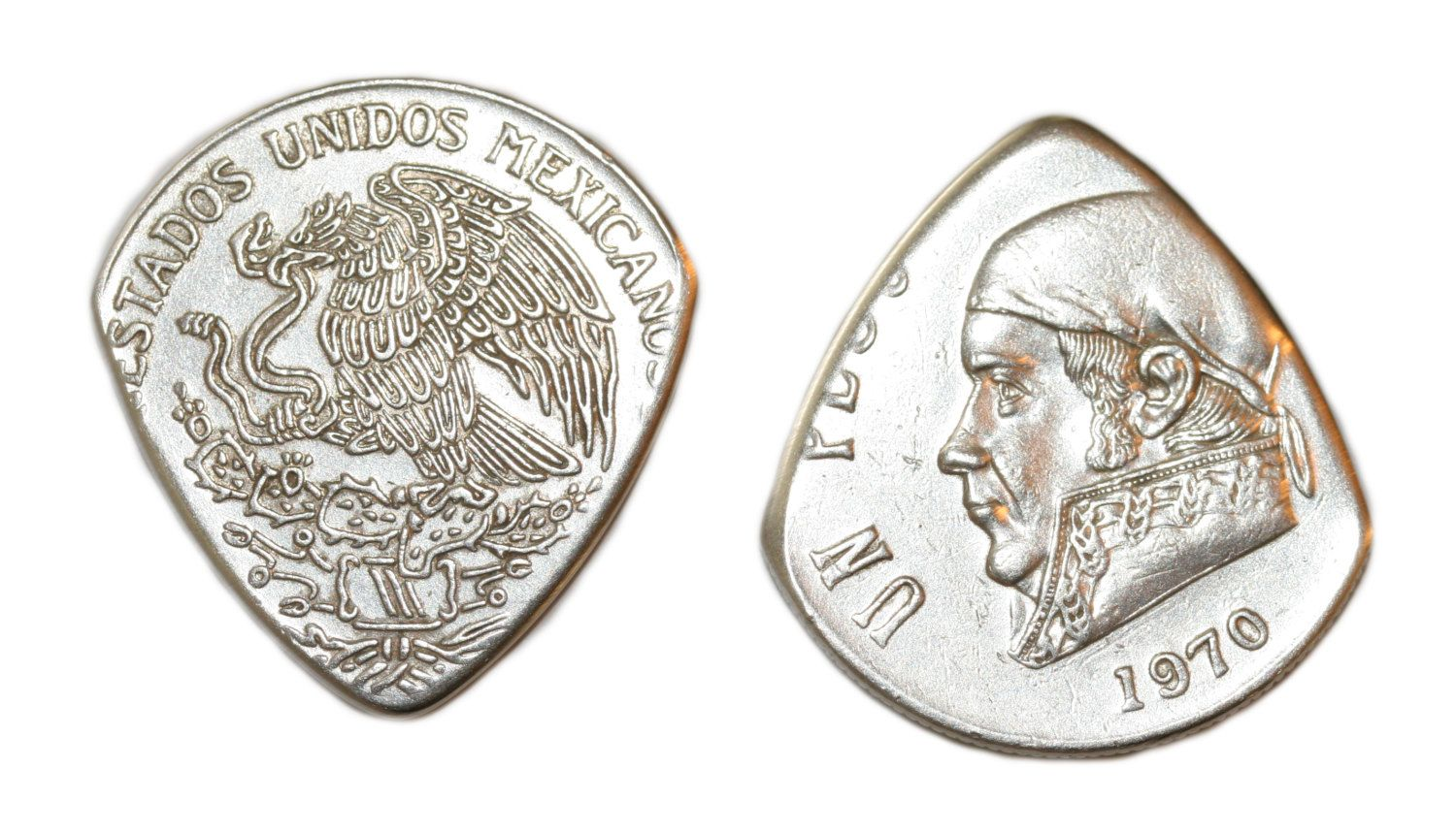 Mexico Peso Coin Guitar Pick .. Billy Gibbons ZZ Topp style coin pick