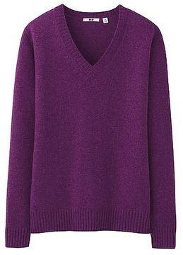 WOMEN Wool Alpaca V Neck Sweater on shopstyle.co.uk 9f00e0712