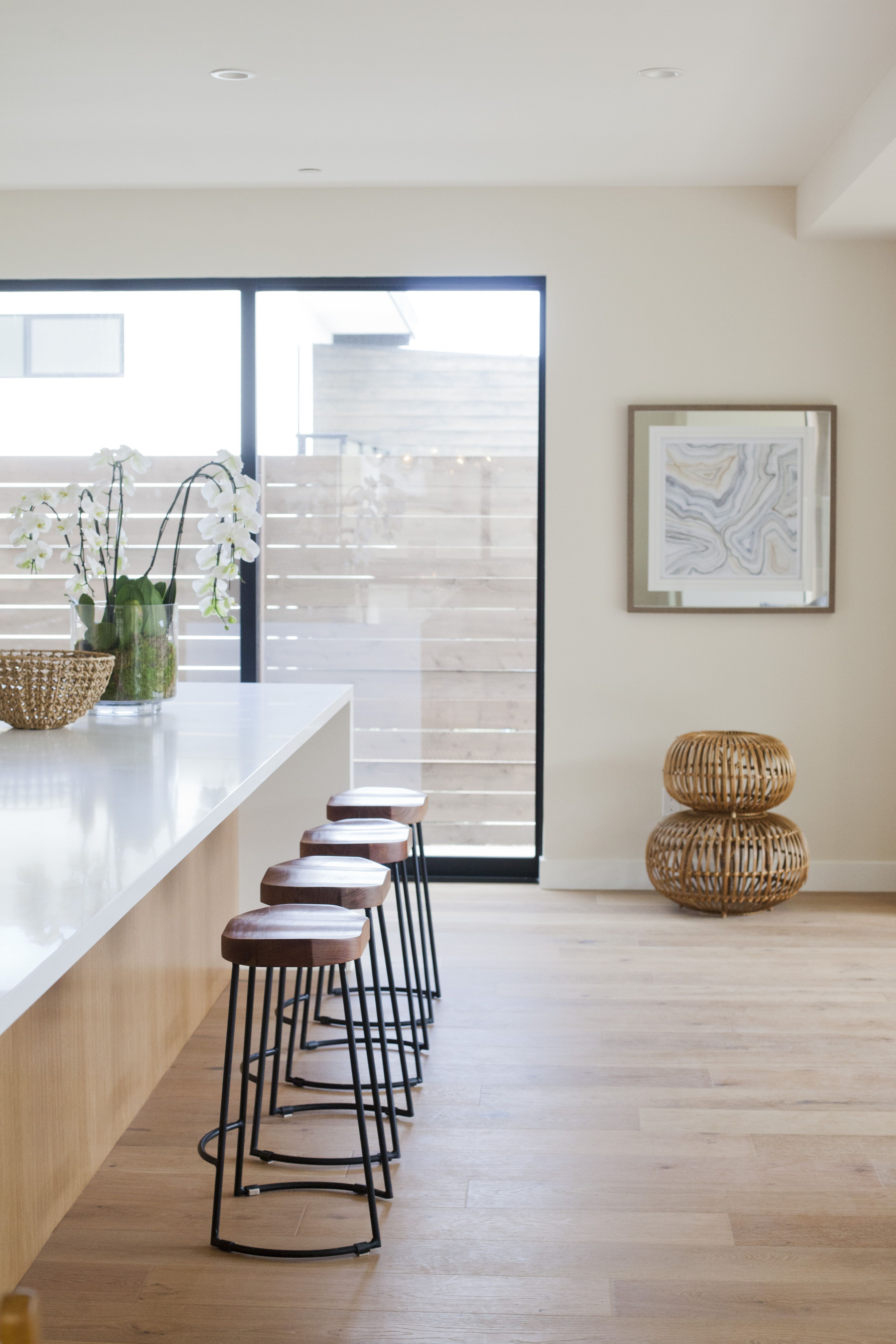 Minimalist White And Natural Wood Finish Kitchen Design  San Alluring Kitchen Designers San Diego Decorating Inspiration
