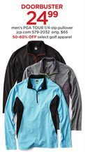 Men's PGA Tour 1/4-Zip Pullover from JCPenney $24.99 (60% Off) -
