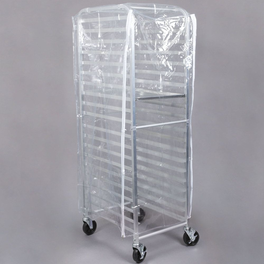 Regency 63 Clear 8 Mil Full Size Plastic Bun Pan Rack Cover With 3 Zippers In 2020 Pan Rack Baking Supplies Organization Pottery Studio