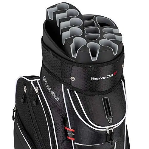 Founders Club Premium 14 Way Organizer Cart Bag (Black