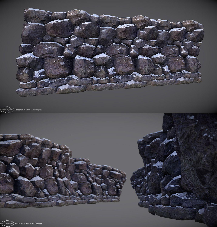 Rock wall drawing rock pillars the wall - Tiling Rock Wall Tutorial By Hugo Beyer