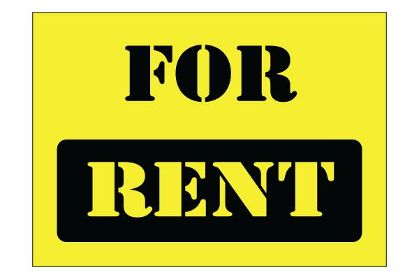 printable for rent sign in black and yellow free download