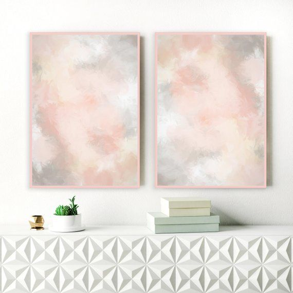 Best Blush Pink And Grey Wall Art Printable Lounge Wall Art 400 x 300