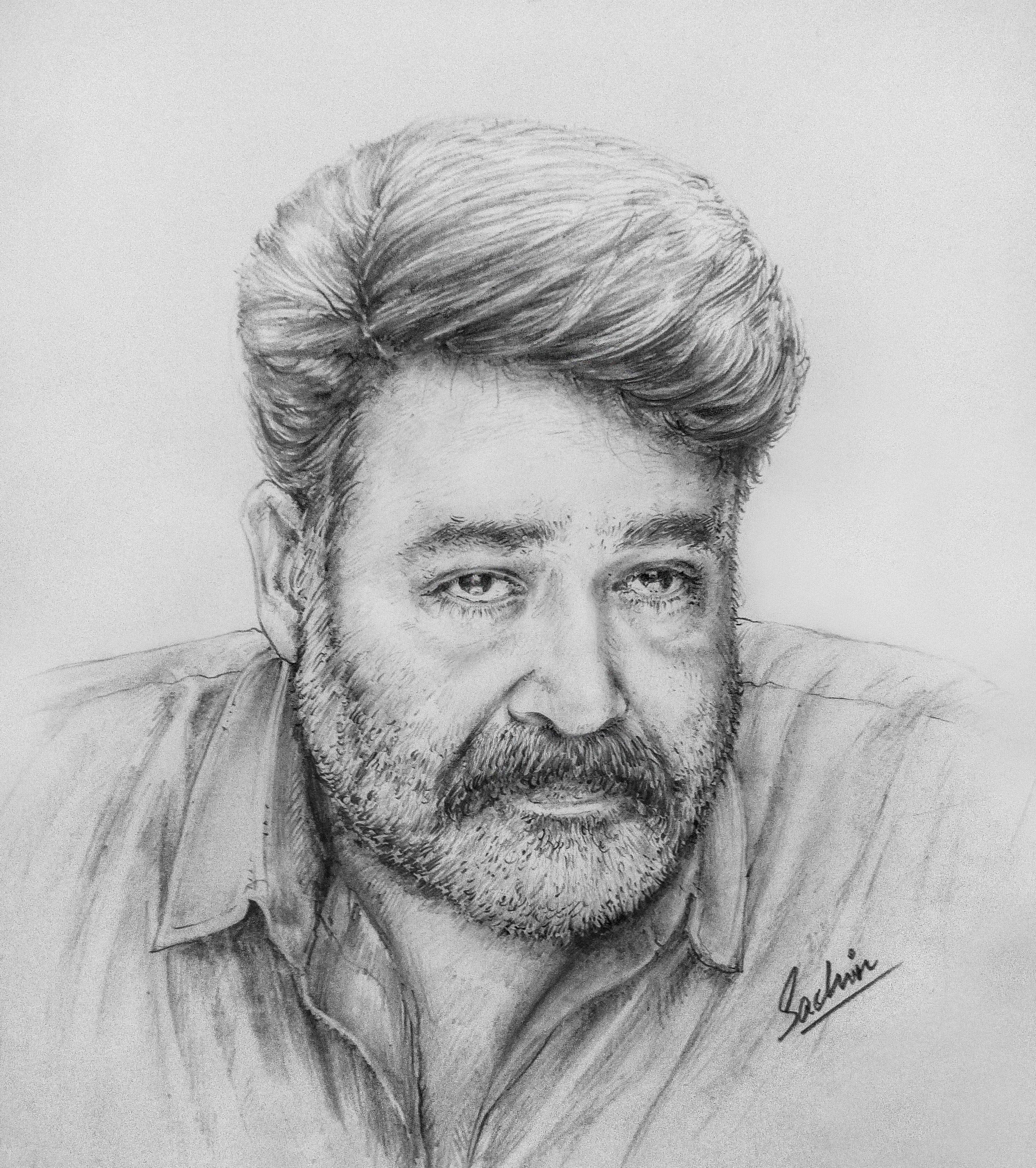 Actormohanlal lalettan😘 mohanlal mohanlalfans portrait worldofartists artlove pencildrawing completeactor