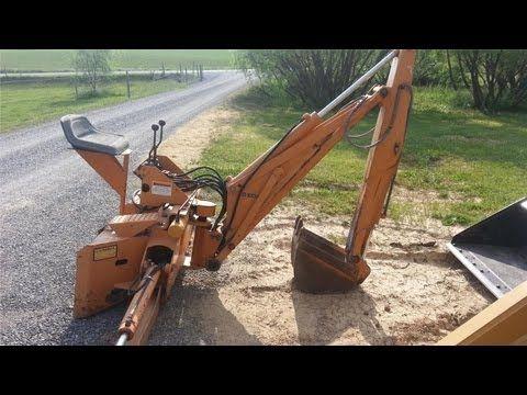 Case D100XR Universal Skid Steer Backhoe Attachment! | QUE