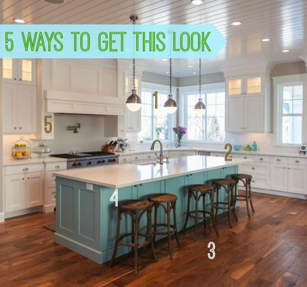 Kitchen Island 4 X 8 5 ways to get this look: blue island kitchen | kitchens, creative