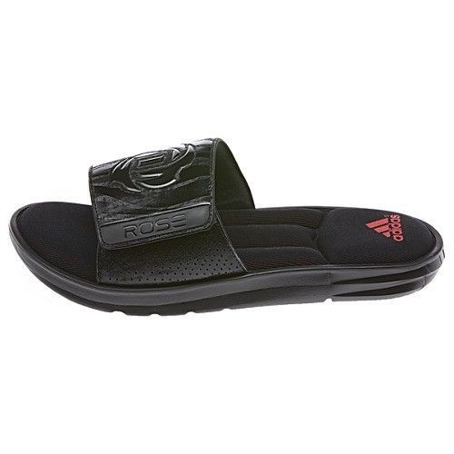 ADIDAS DERRICK ROSE Men's Black Slides, Sport Fit Foam Training Shoes, Size  12