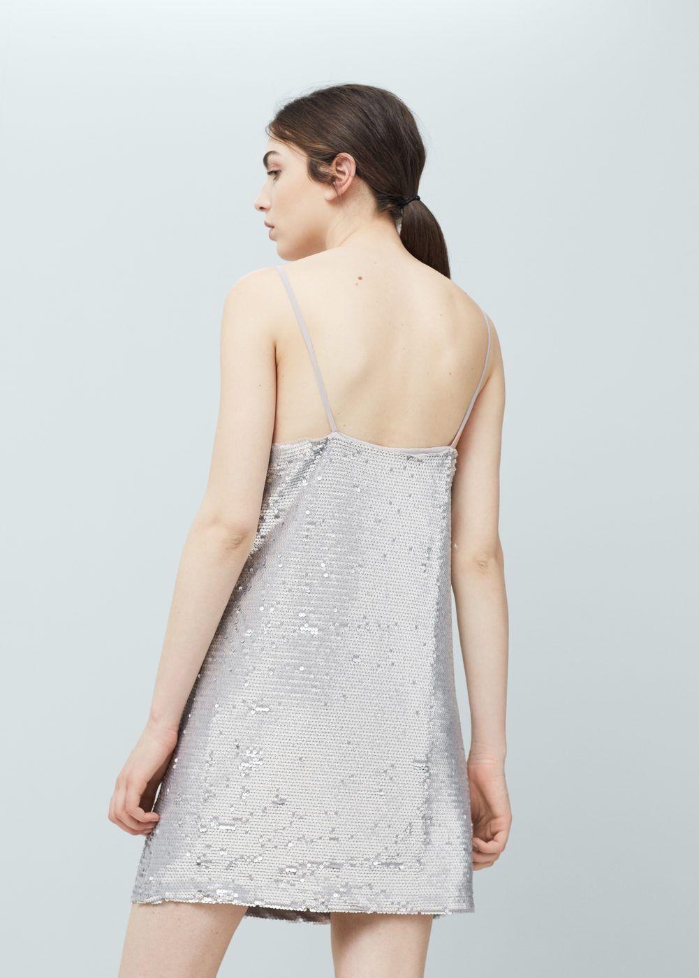 Vestido lantejoulas - Mulher   dress   Pinterest   Robe, Robe à ... edac80c59738