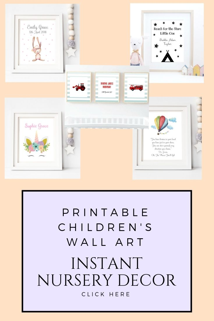 Printable nursery prints and childrenus wall art from art haven