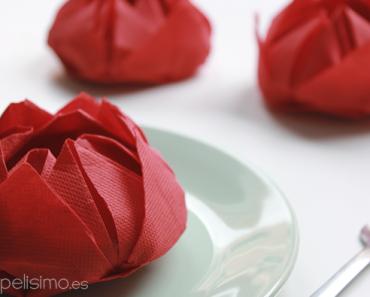 doblar servilletas de papel con formas
