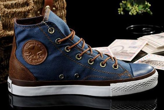 4580804b24b1 2013 New Converse All Star Vampire Diaries Blue Denim Couples Sneakers High  Tops  J13050601  -  58.00   Discount Converse All Star Sneakers Sale