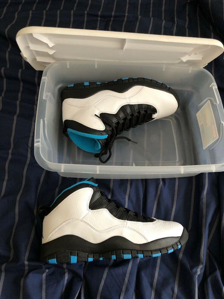 7631d476629 Nike Air Jordan 10 Retro Powder Blue Style # 310805-106 Size 10 #fashion  #clothing #shoes #accessories #mensshoes #athleticshoes (ebay link)