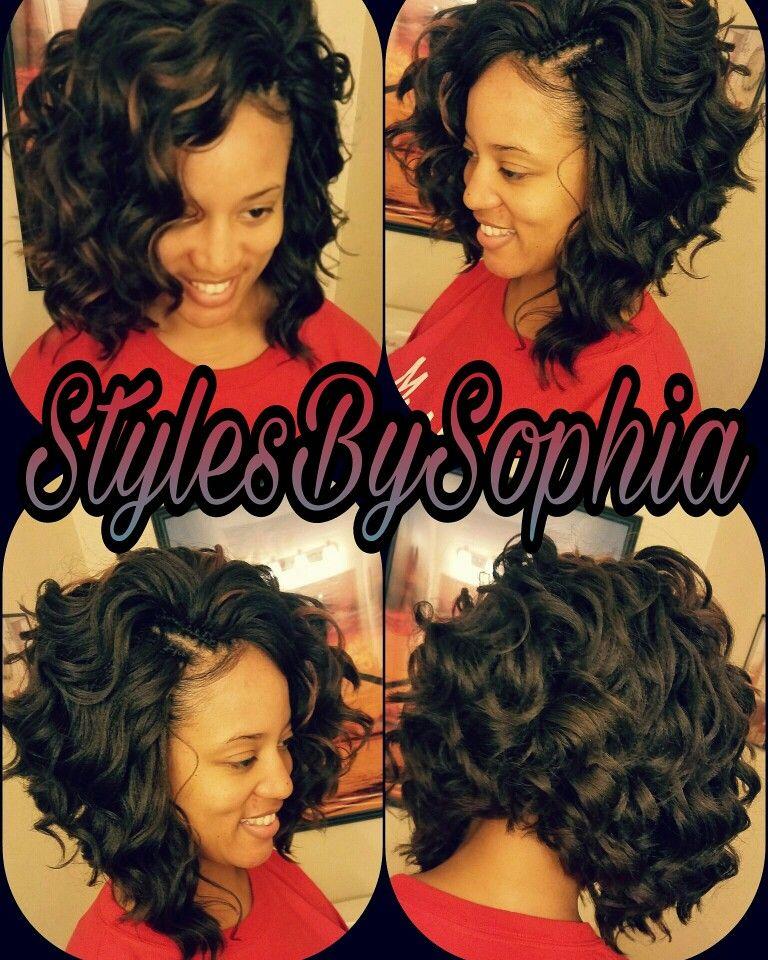 I used 3 packs of ocean wave by kima cut n layered bob for this crochet hair pmusecretfo Choice Image