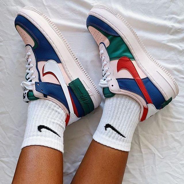 Nike Air Force 1 Shadow????❤️???? en 2021   Nike roses, Chaussures ...