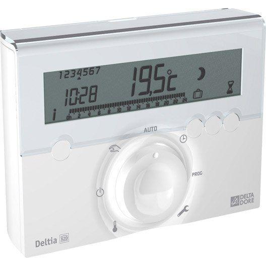 Thermostat Programmable Sans Fil Delta Dore Deltia 8 03 Fil