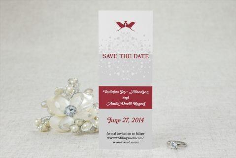 Elegant Lovebirds Save the Date Cards