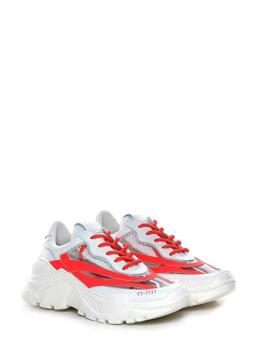 bb3c8d8914 Sneaker in pelle con inserti di pvc, suola in gomma.tacco 55, platform