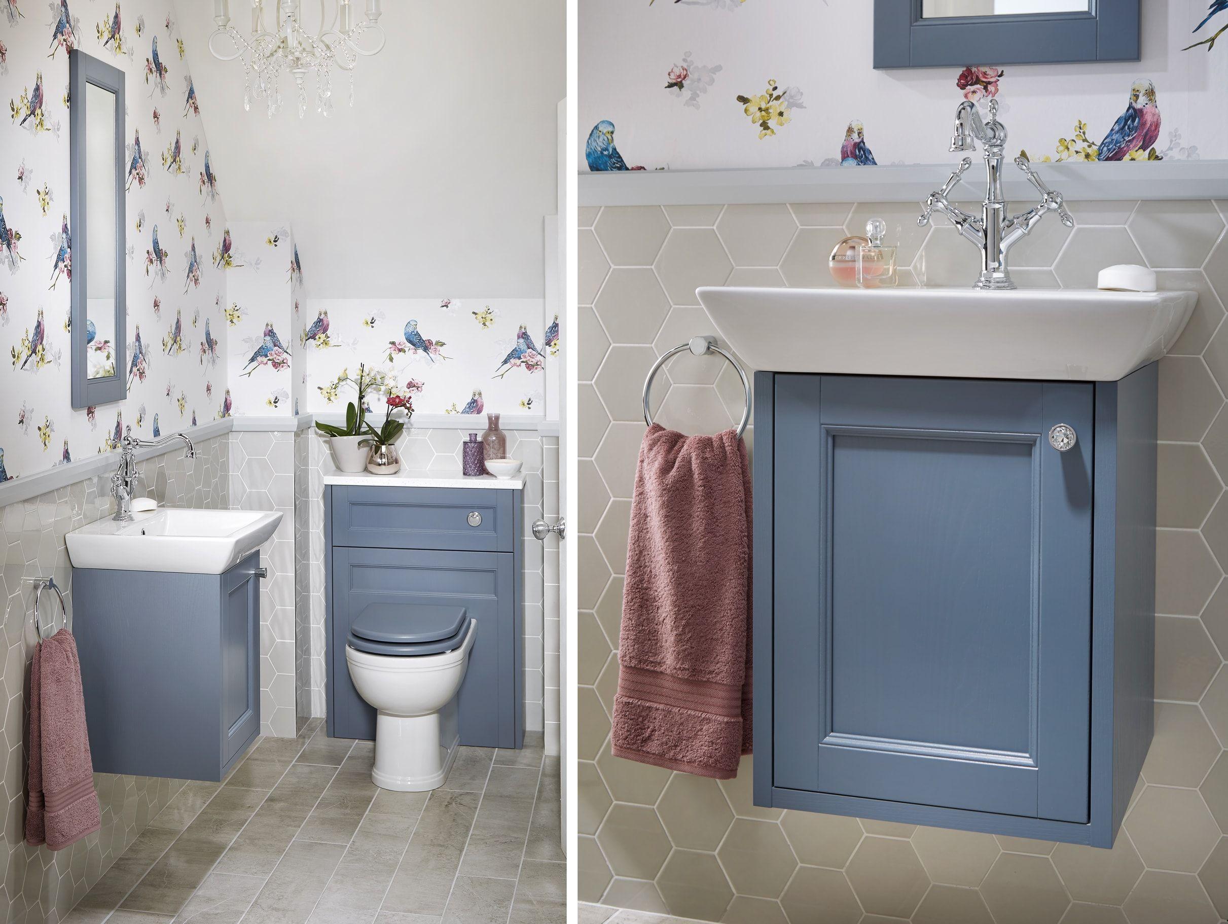 Blue Bathroom Vanity Unit From Utopia Bathrooms Painted Vanity Bathroom Bathroom Vanity Decor Small Bathroom Vanities