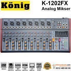 König K-1202 FX 12 Kanal Analog Ses Mikseri