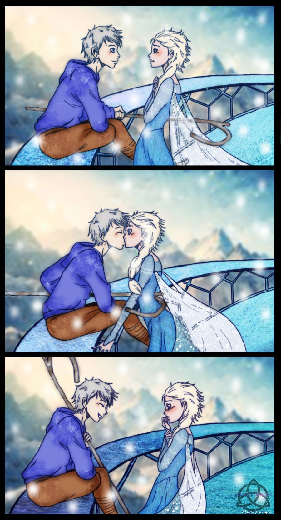 Jackelsa surprise kiss by deviart4everiantart on i briefly saw you comments and im just saying right now that jack will kiss elsa and well other stuff will happen but yes so as usual the dialogue eugene thecheapjerseys Choice Image