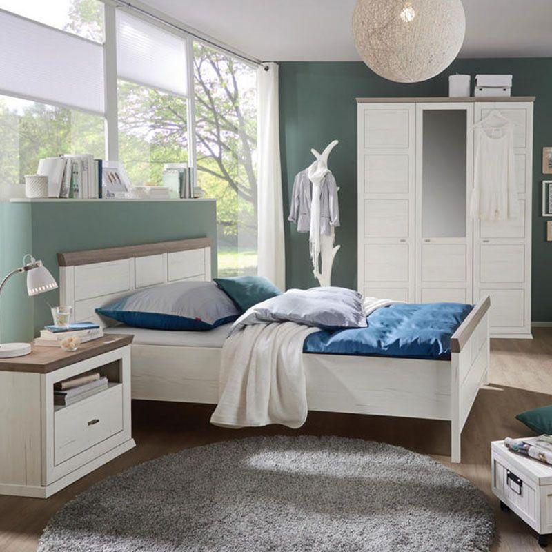 BETT in Grau, Weiß, Pinienfarben Haus deko, Bett und