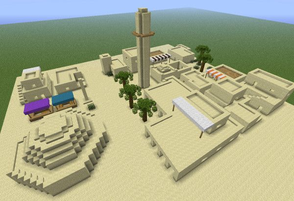 Minecraft Middle Eastern House Instruction Image Minecraft