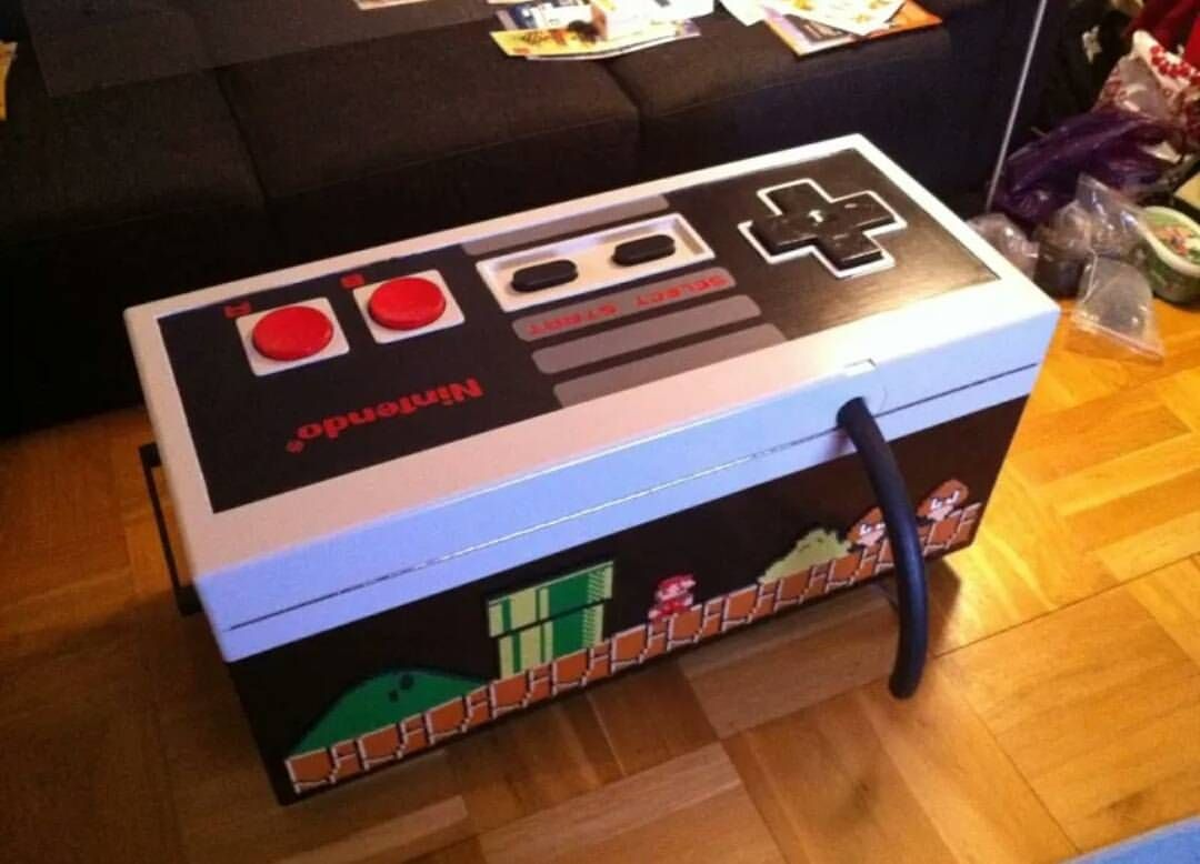 Controller Coffee Table Part - 40: @enricones_hohoho_gamer Giant Working Nintendo Controller Coffee Table!