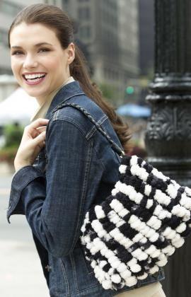 Free Knitting Pattern - Bags, Purses & Totes: Dalmation Purse