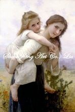 handpainted  classical oil painting reproduction art ofWilliam Adolphe Bouguereau BGR1004 50x75cm(China (Mainland))