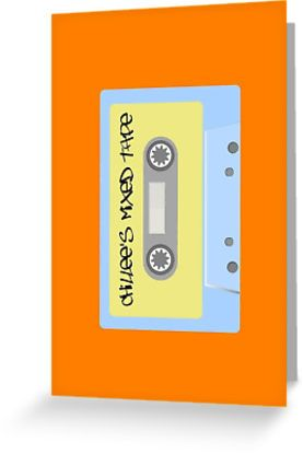 """""""Chillee's Mixed Tape 1 by Chillee Wilson"""" Greeting Cards & Postcards by ChilleeWilson 