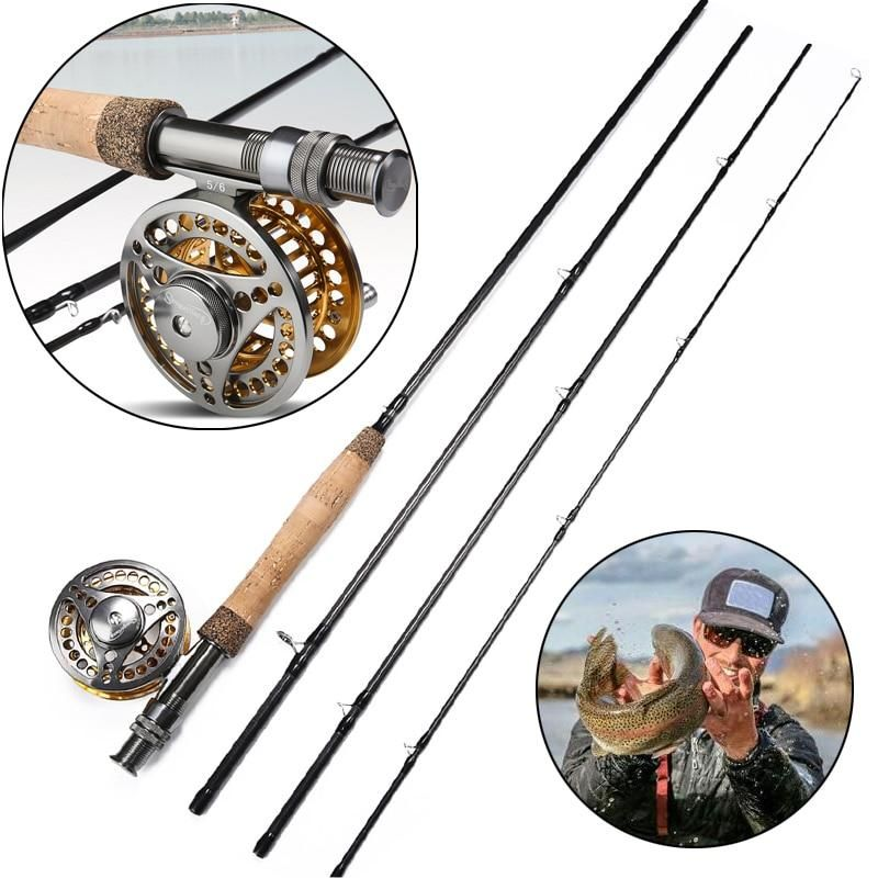 Sougayilang 2 7m Fly Fishing Rod Reel Combo Lightweight Portable Fly Rod And Cnc Machined Aluminum Alloy Fly Reel Tackle Kit Set Fly Fishing Fly Rods Fly Fishing Rods