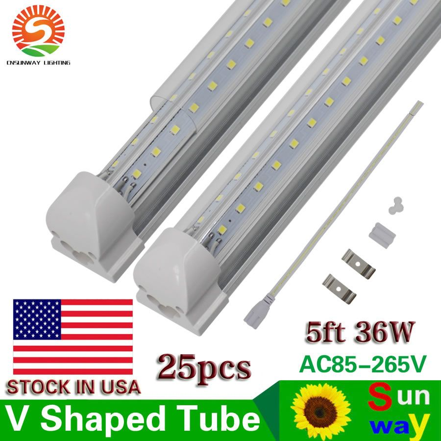 Find More Led Bulbs Tubes Information About Led V Shape Tube 5ft 36w All In One Led Tube Light Ce Rohs Ul Dlc Free Shippi Led Tube Light Tube Light