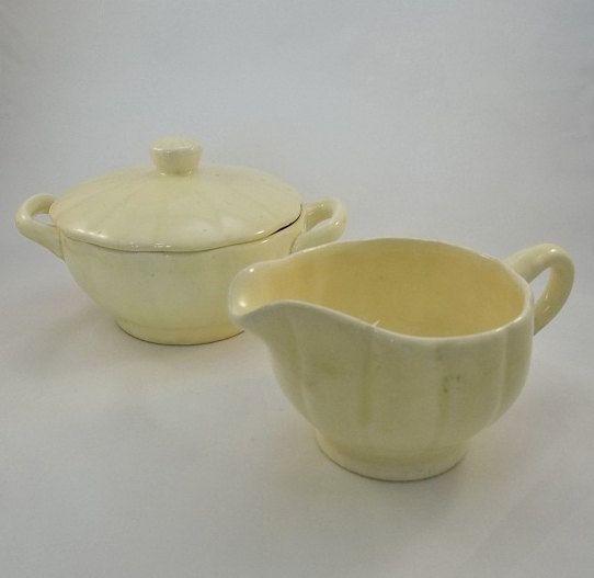 Vintage Sugar and Creamer Set- Shabby Chic Decor- Kitchen ...