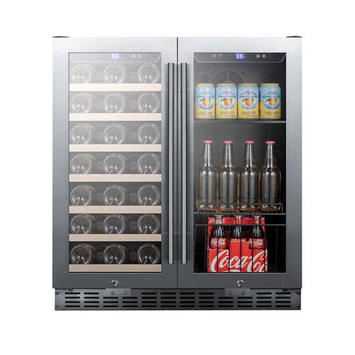 30 Inch Built In Dual Zone Wine And Beverage Cooler The Refrigeration Units Are Mainly Differentiated Wine Coolers Drinks Wine And Beer Fridge Beverage Cooler
