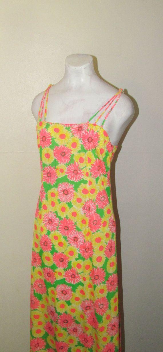 ee0421293f7 Fantastic 1960 s HAWAIIAN Style MAXI Dress by BeauMondeVintage ...