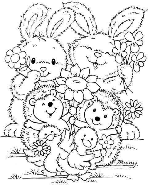Stamps Easter Coloring Pages Cute Coloring Pages Colouring Pages
