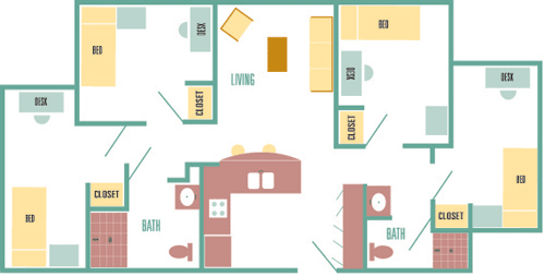 Usf Cypress Apartments Floor Plan
