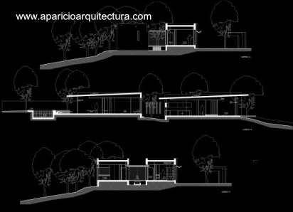 Plano arquitect nico de cortes de la casa arquitectura for Pie de plano arquitectonico pdf