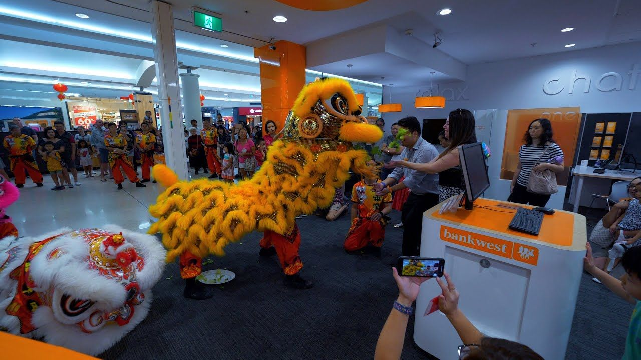 Lion Dance Chinese New Year Southlands Boulevarde Bank