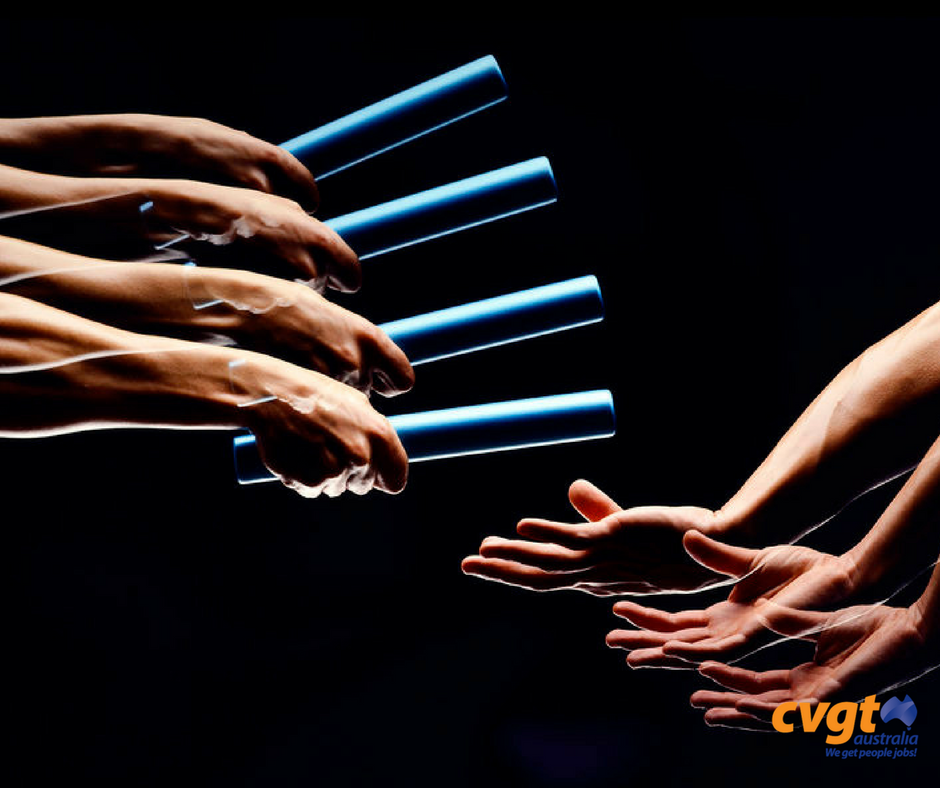 Passing the baton. 4 steps to an effective handover. 1
