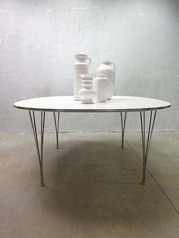 Fritz Hansen ellips table eetkamer tafel Mid century