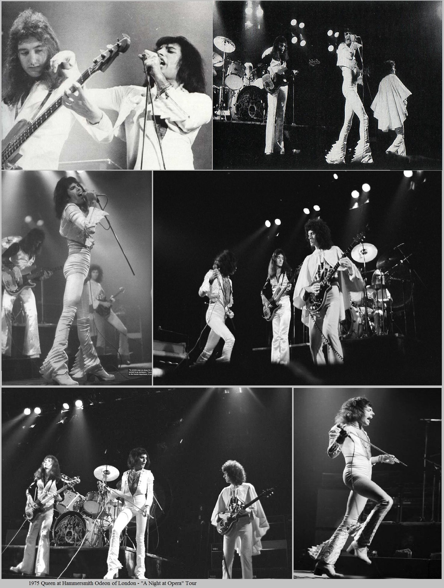 1975 Hammersmith Odeon di Londra, live tour A Night At The Opera.