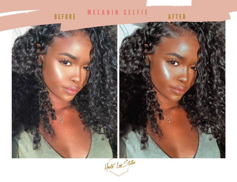 2 Black Girl Magic Selfie Presets Best Melanin Glow Mobile Etsy Tanned Skin Color Black Girl Magic Black Girl
