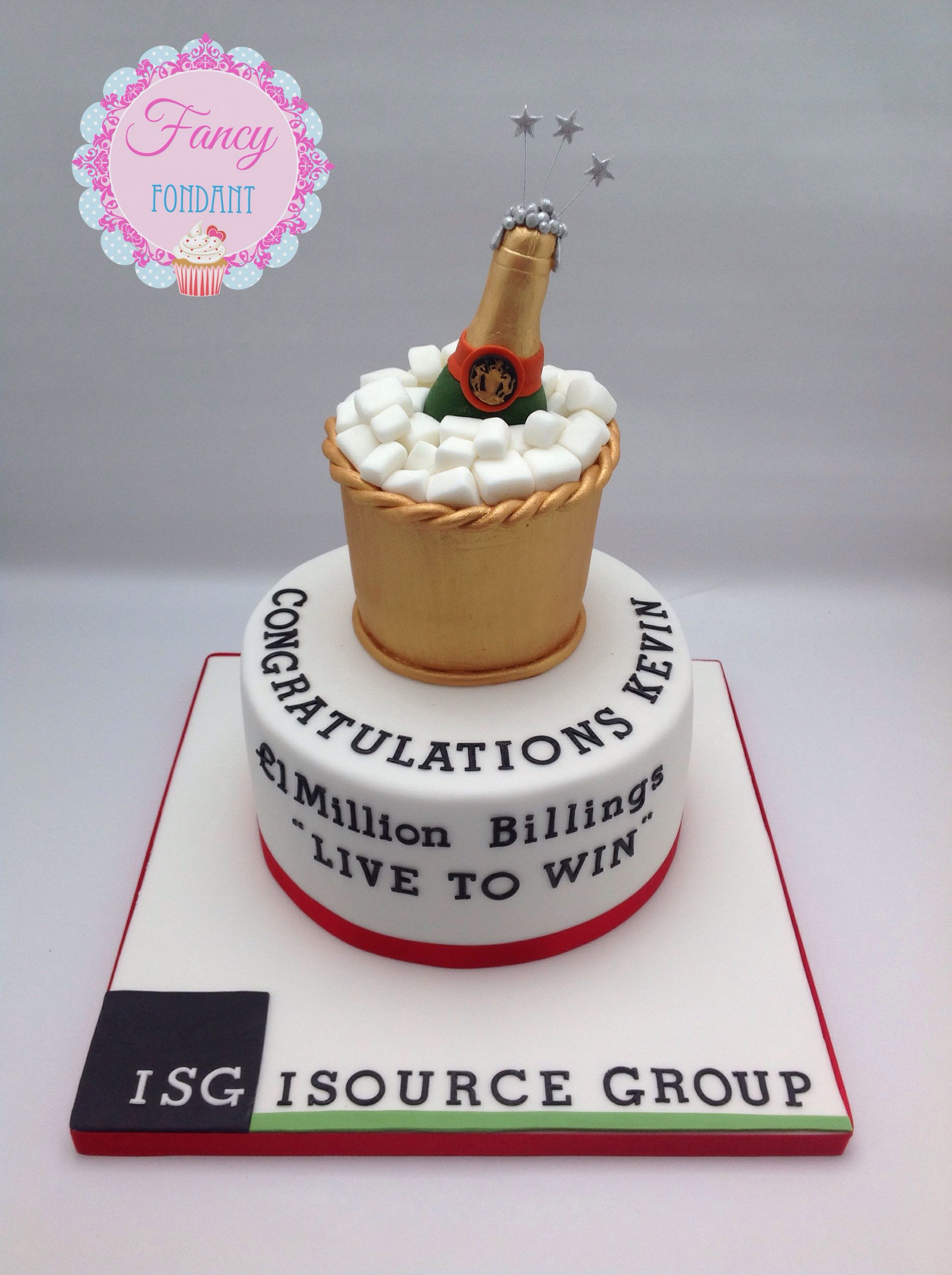 A Celebration Cake With Champagne Bottle Made By Emily At