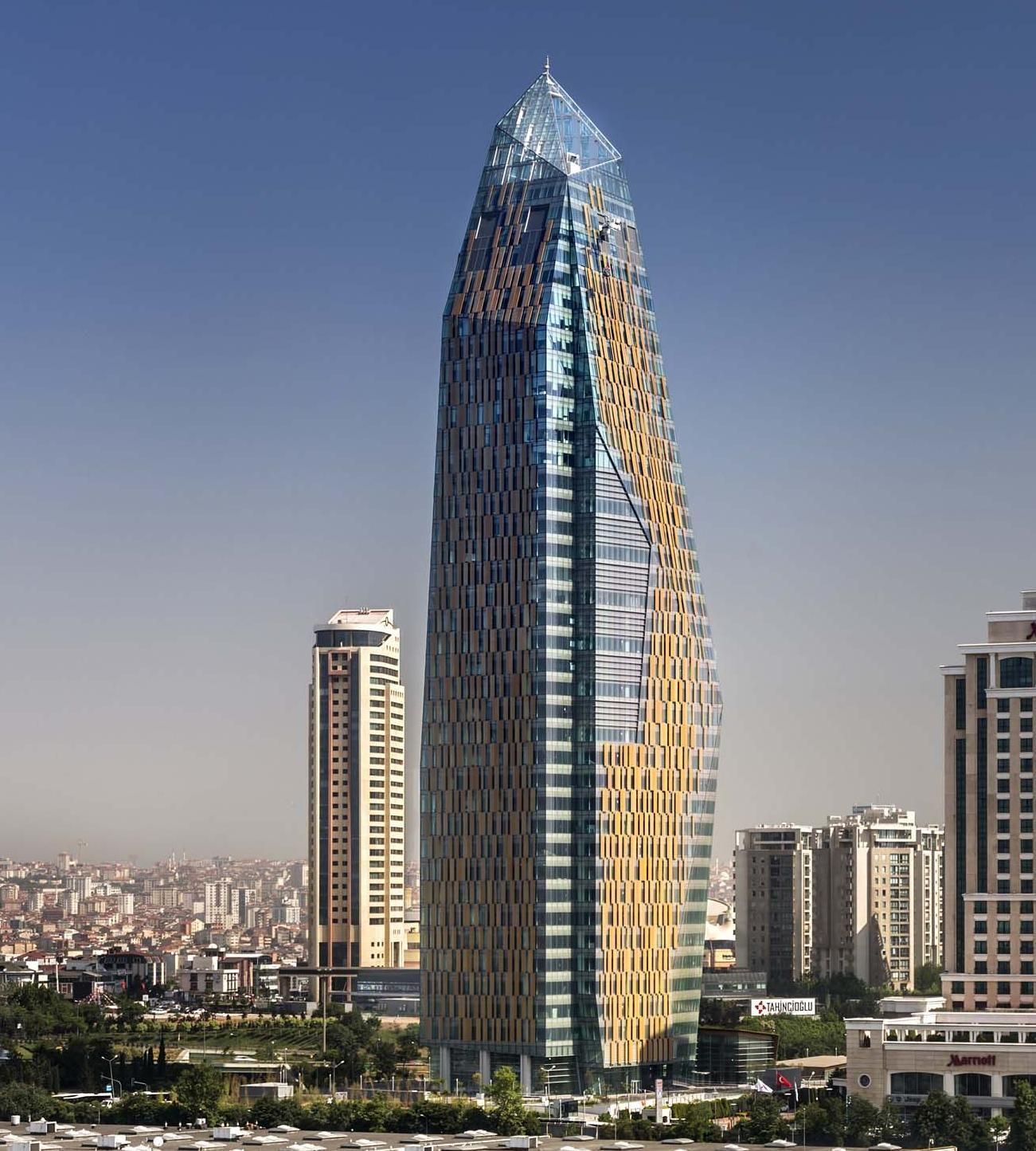 Allianz Tower Skyscraper Architecture Futuristic Architecture Office Building Architecture