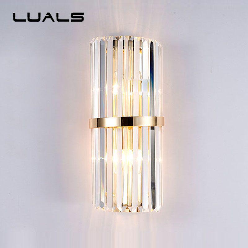 Upscale Crystal Wall Lamp Modern Wall Light Creative K9 Crystal Wall Sconce For Hotel Villa Is Luxurious W Crystal Wall Sconces Modern Wall Lights Crystal Wall