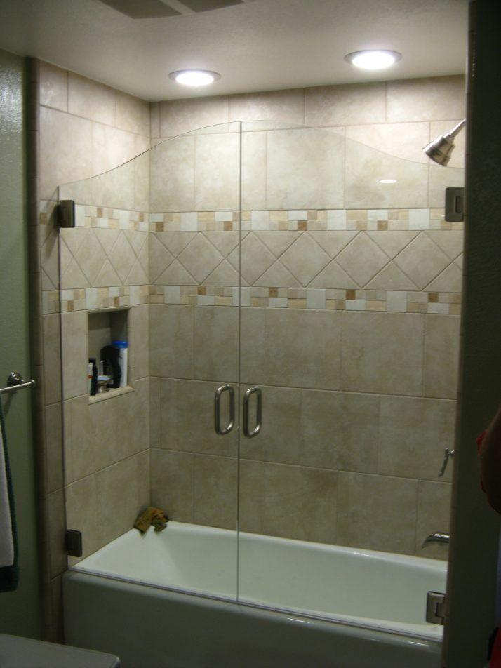 Glass Bathtub Enclosures 53 Bathroom Decor With Glass Bathtub Doors ...