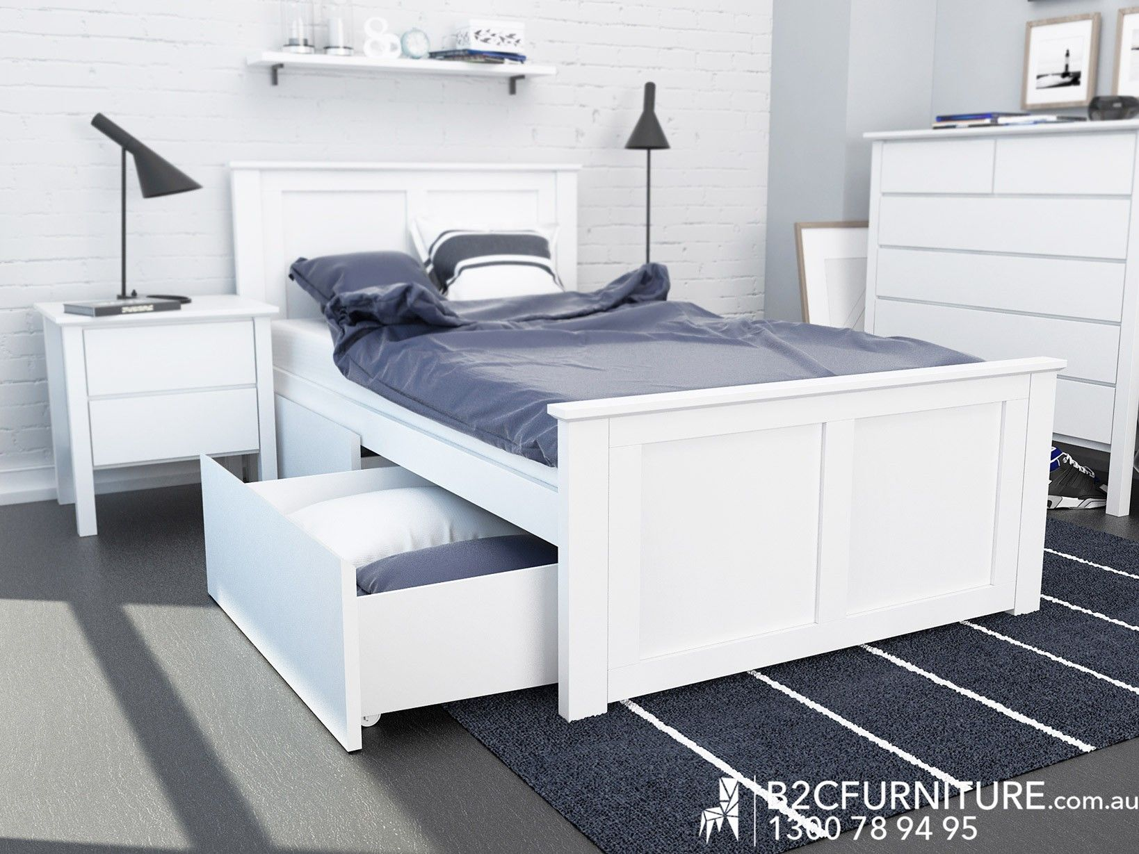 Single Mattresses Melbourne Coco White King Single Storage Bed For Kids Hardwood Frame In